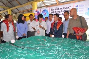 Peresmian Building Resilient Karo oleh Yang Dihormati Ibu Sekda Saberina di Desa Perbaji, Kabupaten Karo, Sumatra Utara, Indonesia